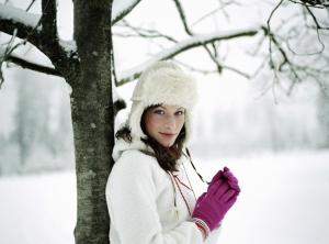 mujer invierno