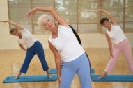 Senior women doing stretching excercises